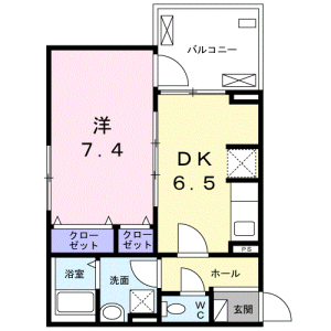 1DK Apartment in Sakuragaoka - Setagaya-ku Floorplan