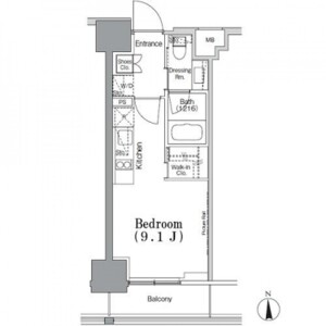 1R Mansion in Iidabashi - Chiyoda-ku Floorplan