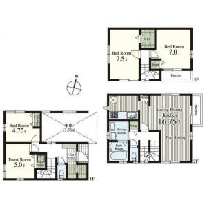 3SLDK {building type} in Toyotamanaka - Nerima-ku Floorplan