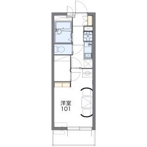 1K Mansion in Yutaka - Fukuoka-shi Hakata-ku Floorplan