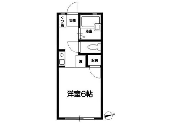 1R Apartment to Rent in Odawara-shi Floorplan
