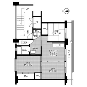 3DK Mansion in Hikamicho iso - Tamba-shi Floorplan