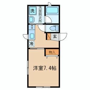 澀谷區本町-1K公寓 房間格局