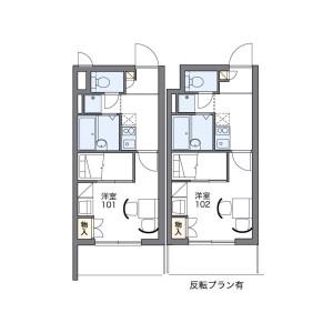 1K Mansion in Kaijincho minami - Funabashi-shi Floorplan