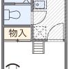 1K アパート 京都市中京区 間取り