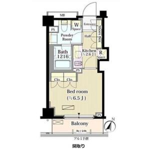 1K Mansion in Yakumo - Meguro-ku Floorplan