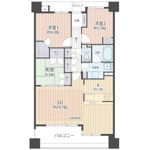 3LDK {building type} in Tamuracho - Atsugi-shi Floorplan