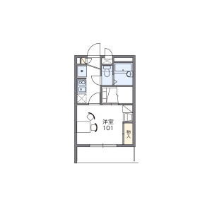 1K Mansion in Kamigo - Ebina-shi Floorplan
