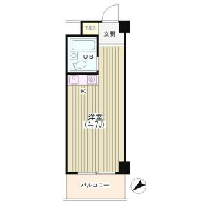 1R Mansion in Waseda tsurumakicho - Shinjuku-ku Floorplan