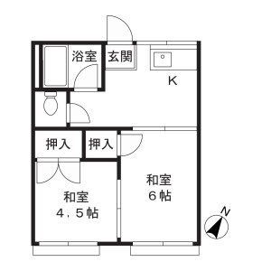 2DK Apartment in Shibokuchi - Kawasaki-shi Takatsu-ku Floorplan