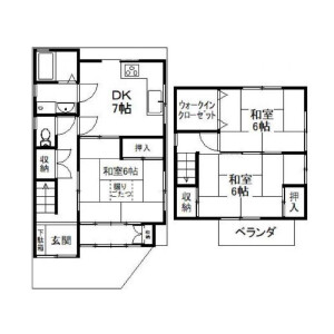 3DK {building type} in Sagatenryuji shiinocho - Kyoto-shi Ukyo-ku Floorplan