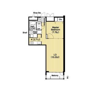 Higashi-Sakura Apartment - Serviced Apartment, Nagoya-shi Higashi-ku Floorplan