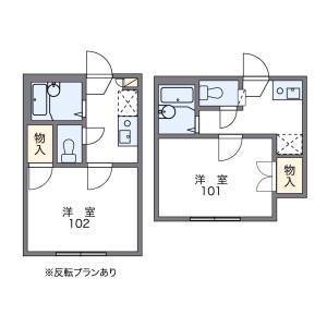 杉並区堀ノ内-1K公寓 楼层布局