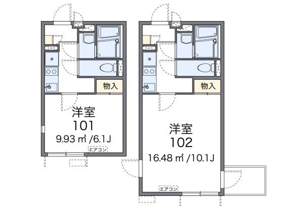 在新宿區內租賃1K 公寓 的房產 房間格局