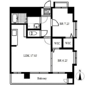 2LDK Apartment in Aoi - Nagoya-shi Higashi-ku Floorplan