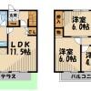 3LDK Terrace house to Rent in Kasukabe-shi Floorplan