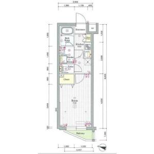 1K Mansion in Ohara - Setagaya-ku Floorplan