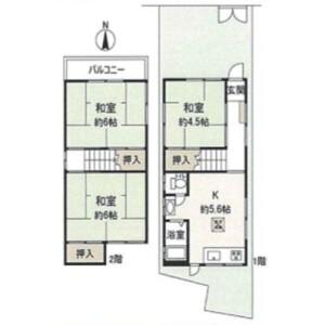 3DK House in Nishitachibanacho - Amagasaki-shi Floorplan
