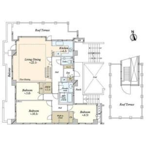 3LDK {building type} in Shirokane - Minato-ku Floorplan