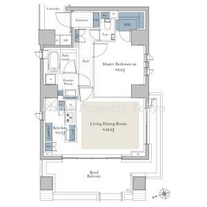港區西麻布-1LDK公寓 房間格局