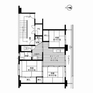 3DK Mansion in Banseicho ushimori - Yonezawa-shi Floorplan
