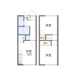 2DK Apartment in Shimbashicho - Yokohama-shi Izumi-ku Floorplan