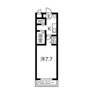 1K Mansion in Nishibiwajimacho jonami - Kiyosu-shi Floorplan