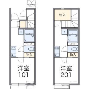 1K Apartment in Arajukumachi - Kawagoe-shi Floorplan