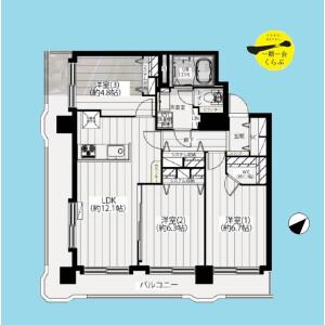 3LDK {building type} in Higashisakashita - Itabashi-ku Floorplan