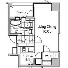 1K Apartment in Kaigan(1.2-chome) - Minato-ku Floorplan