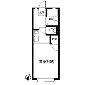 1K Apartment in Oba - Fujisawa-shi Floorplan