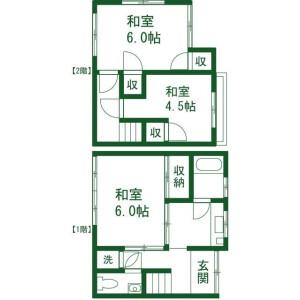 3K Apartment in Waseda tsurumakicho - Shinjuku-ku Floorplan