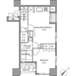 1LDK Mansion in Sengoku - Bunkyo-ku Floorplan