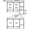1K Apartment to Rent in Ota-ku Floorplan