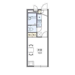 川越市小ケ谷-1K公寓 楼层布局