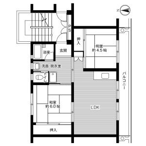 3DK Mansion in Ichinoya - Kasama-shi Floorplan