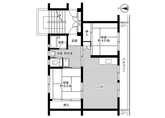3DK Apartment to Rent in Kasama-shi Floorplan