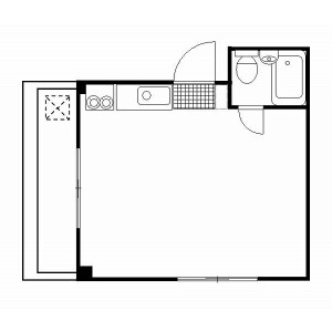 1R Mansion in Shirokanedai - Minato-ku Floorplan