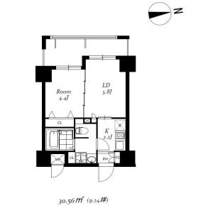 2K Mansion in Ueno - Taito-ku Floorplan