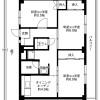 在呉市内租赁3DK 公寓大厦 的 楼层布局