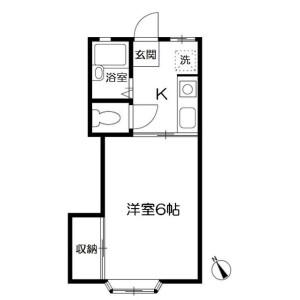 1K Apartment in Kuji - Kawasaki-shi Takatsu-ku Floorplan