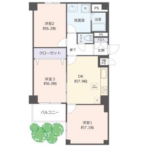 神戸市垂水區西舞子-3DK{building type} 房間格局