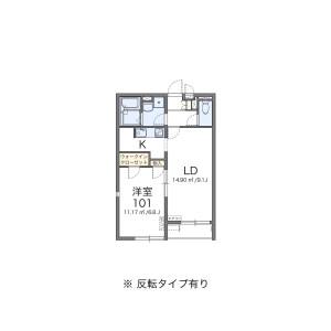 1LDK Apartment in Hiyoshihoncho - Yokohama-shi Kohoku-ku Floorplan