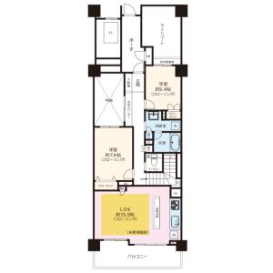 3SLDK {building type} in Mineokacho - Yokohama-shi Hodogaya-ku Floorplan
