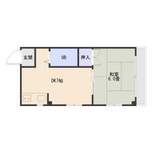 1DK Mansion in Sekime - Osaka-shi Joto-ku Floorplan