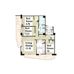 3LDK Mansion in Kamiochiai - Shinjuku-ku Floorplan