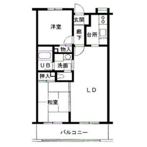 2LDK Mansion in Sakado - Kawasaki-shi Takatsu-ku Floorplan
