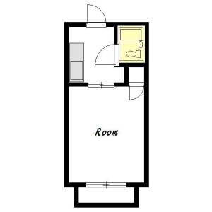 1R Mansion in Sasage - Yokohama-shi Konan-ku Floorplan