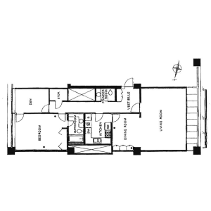 2LDK Apartment in Minamiazabu - Minato-ku Floorplan
