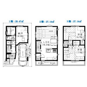 江东区南砂-3LDK{building type} 楼层布局